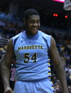 Davante Gardner was plus-28 in just 14 minutes last year against Wisconsin. (Marquette Tribune photo)