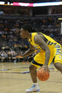 Crowder said the one area he needs to improve on most for the June 28 NBA Draft is his ball-handling. (Marquette Tribune photo).