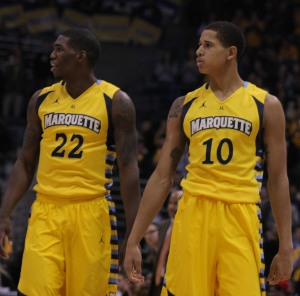 Juan Anderson may still be a project in his second year at Marquette. (Marquette Tribune)