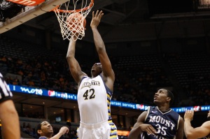 A torn ACL limited Chris Otule to eight games in 2011, but he showed plenty of promise when healthy. (Marquette Tribune Photo)