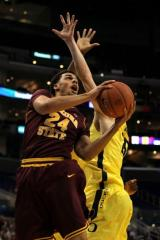 Trent Lockett was one of the best wings in the Pac-12 finishing around the basket. (Photo by Stephen Dunn/Getty Images)