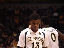 Vander Blue drew his first charge in 88 collegiate games, a testament to Marquette's dedication on defense.