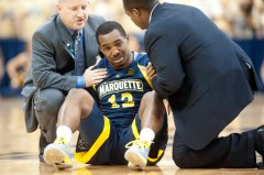 Derrick Wilson shook off an early injury scare and led Marquette in a career-high 31 minutes. (USA Today Images)