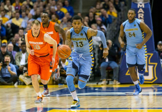 Marquette forced seven Syracuse turnovers while playing zone back in February. (USA Today)