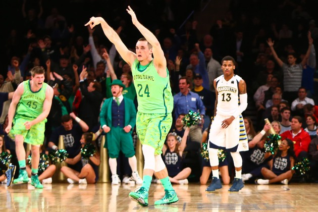Pat Connaughton crushed Marquette from beyond the arc Thursday night. (USA Today)