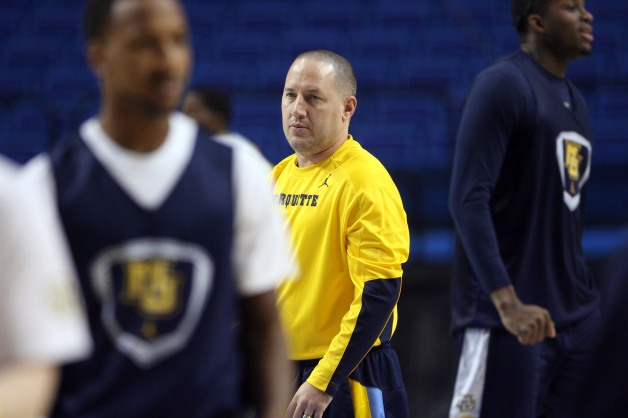 Buzz Williams and Marquette begin their quest for a third straight Sweet 16 this afternoon. (USA Today)
