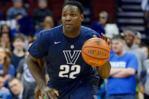 JayVaughn Pinkston will lead Villanova to another NCAA Tournament appearance this year. (Photo via vuhoops.com)