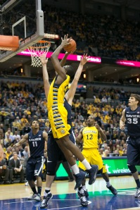 Chris Otule was the difference for Marquette Saturday afternoon. Photo by Anthony Giacomino/Paint Touches