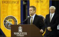 Steve Wojciechowski made an impact at his introductory press conference. (Photo credit: MU Athletics)