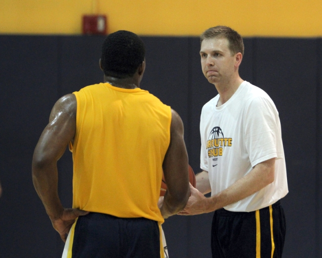 Coach Brett Nelson is looking to plant his roots at Marquette. (Photo courtesy of Marquette Athletics)