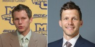 Travis Diener then (2004) and now (2014).  (Photos courtesy of Marquette Athletics)