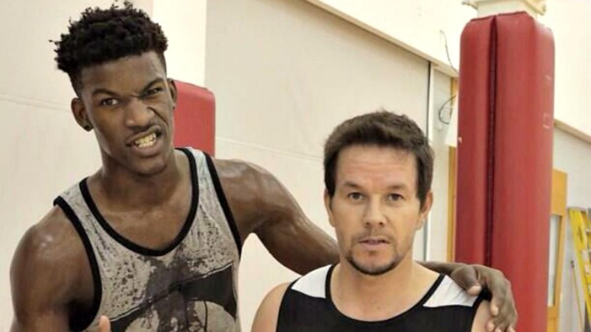 042a2a08a8e A History of Bromance  Jimmy Butler and Mark Wahlberg